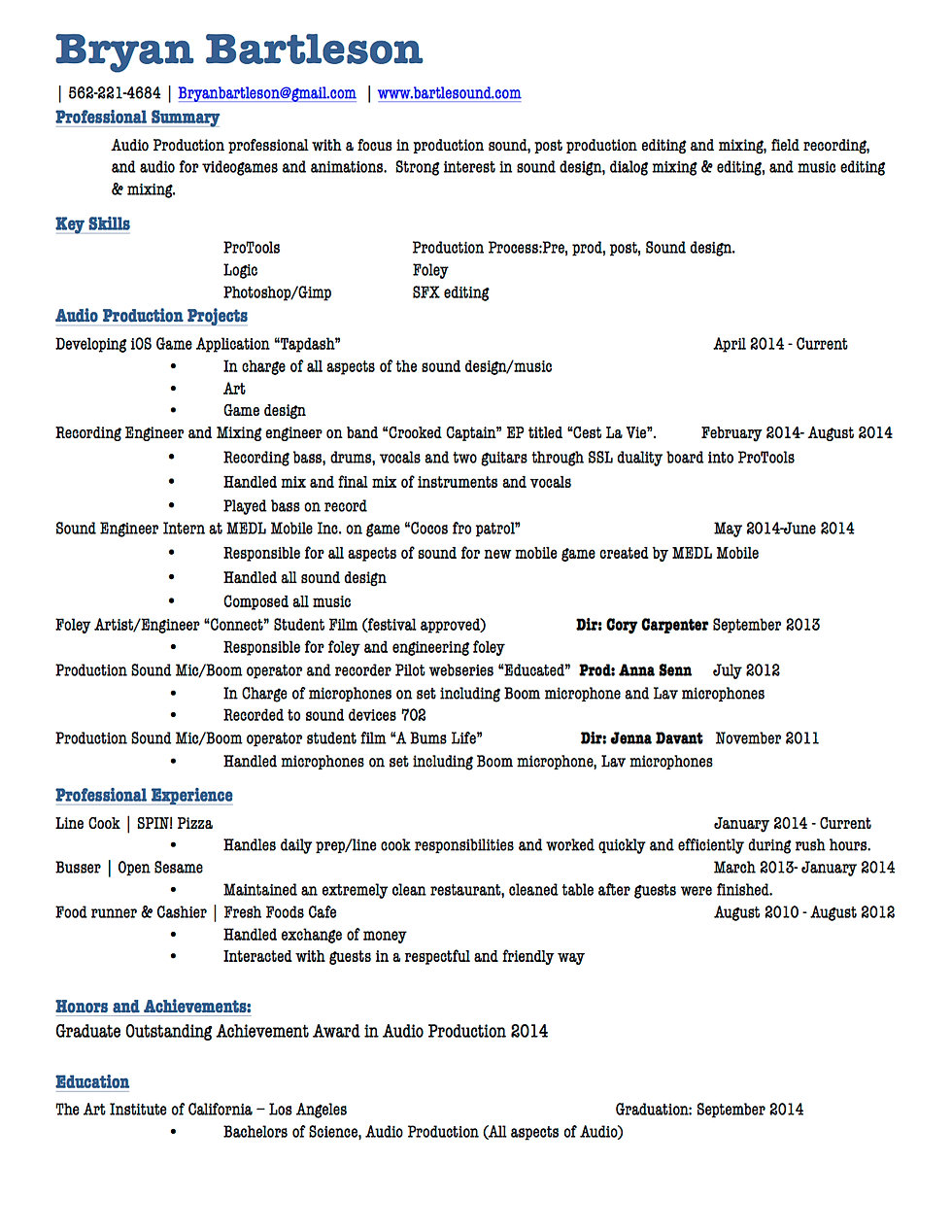 music recording engineer sample resume country home plans with - Food Process Engineer Sample Resume