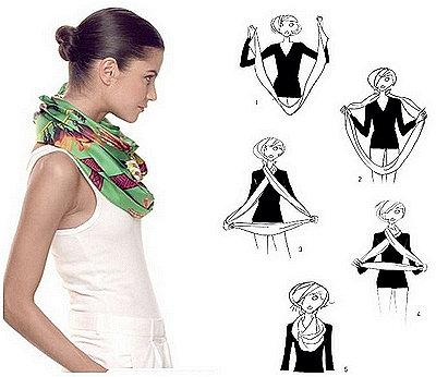 Как можно завязать шарф на шее фото