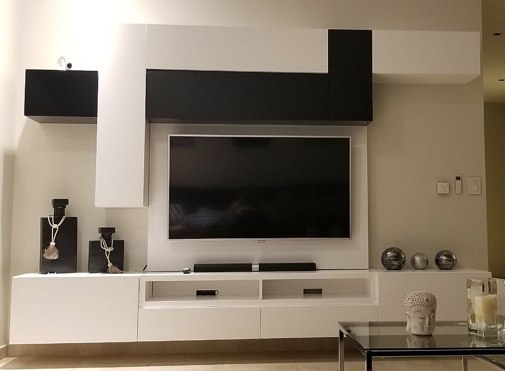 Muebles para tv modernos best amazing muebles para tv for Muebles modernos living para tv