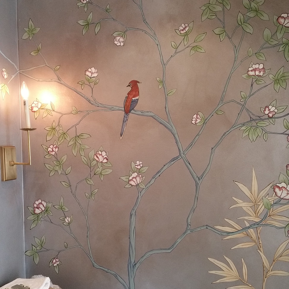 Penshawhill wallpaper murals atlanta chinoiserie for Chinoiserie mural wallpaper