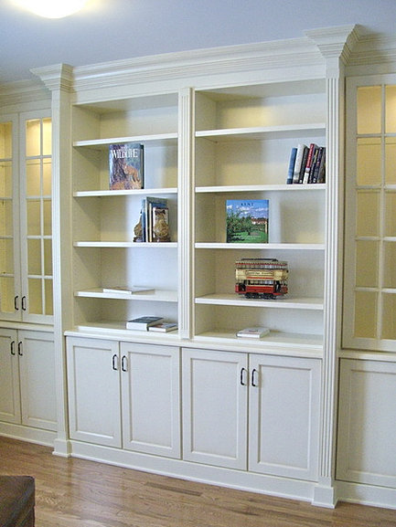 custom built in bookcase - Canadian Made Kitchen Cabinets