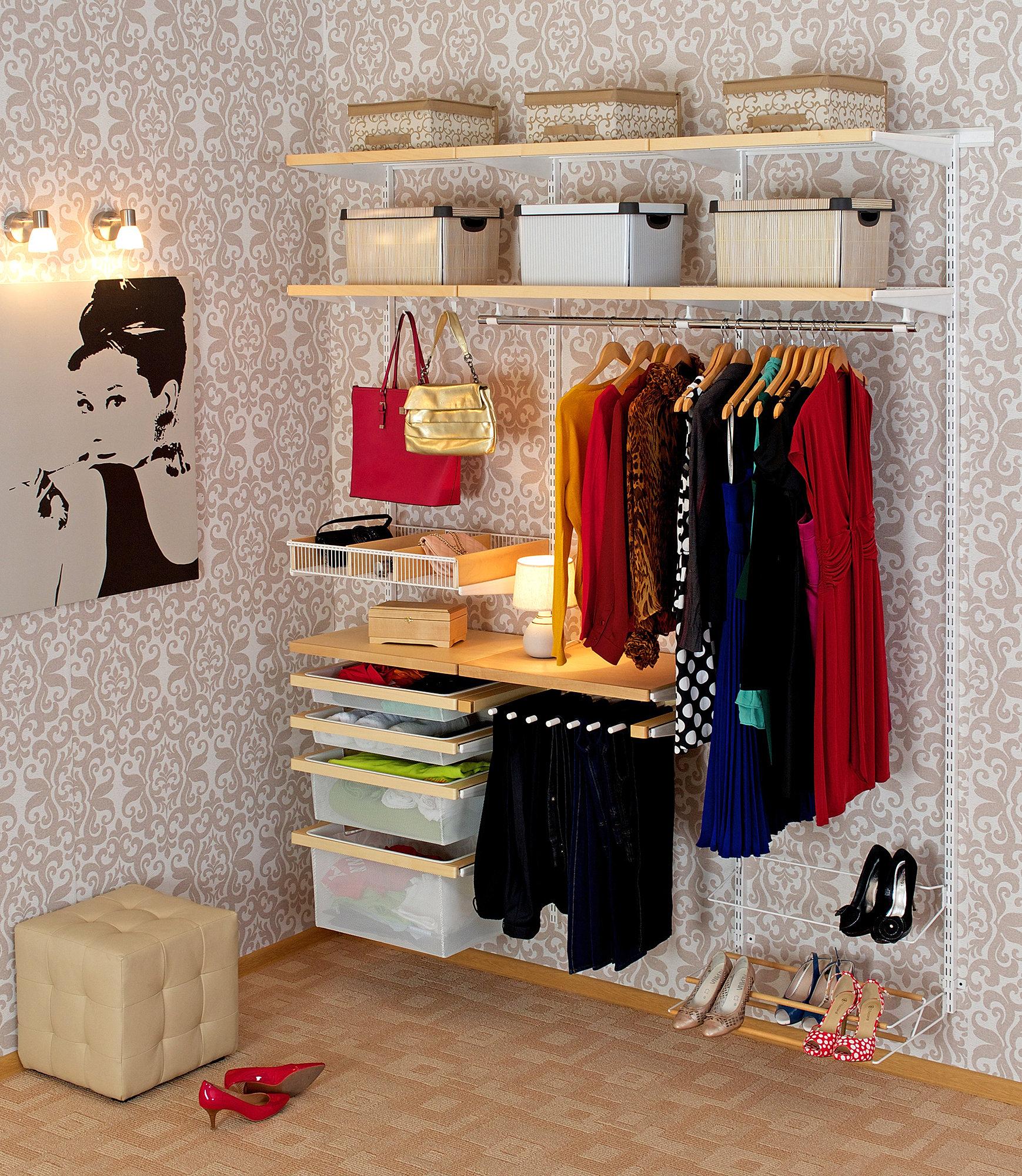 Системы хранения вещей для гардеробной (ikea, elfa и другие).