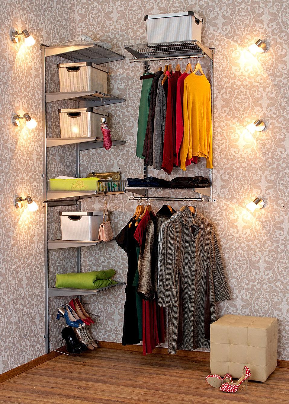 Гардеробная система aristo 1 2800x2450 мм цвет серый, гардер.