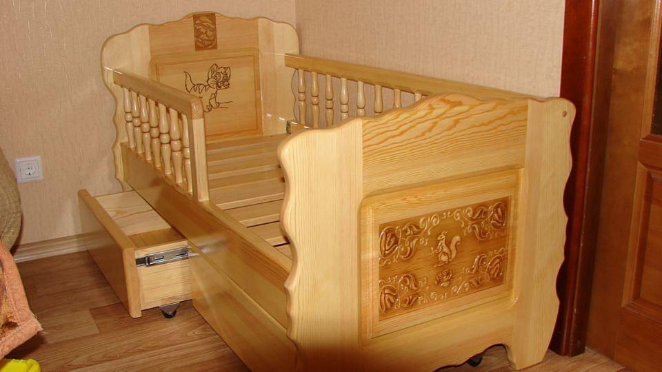 Детские кроватки своими руками из дерева фото