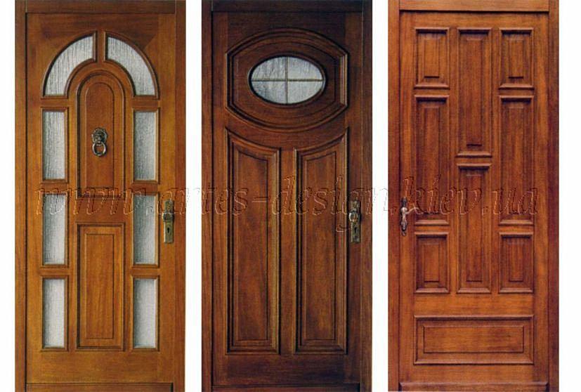 заводские входные двери из дерева