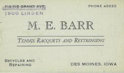 Barr Bike Card