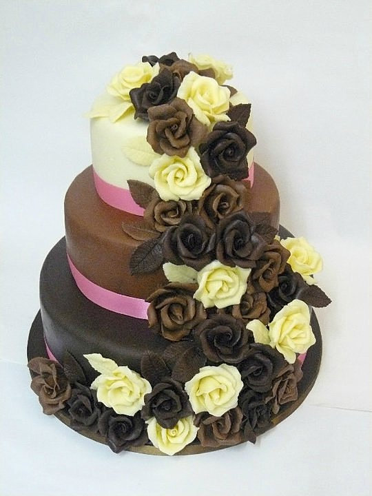 Chocolate Cake For Wedding Tier