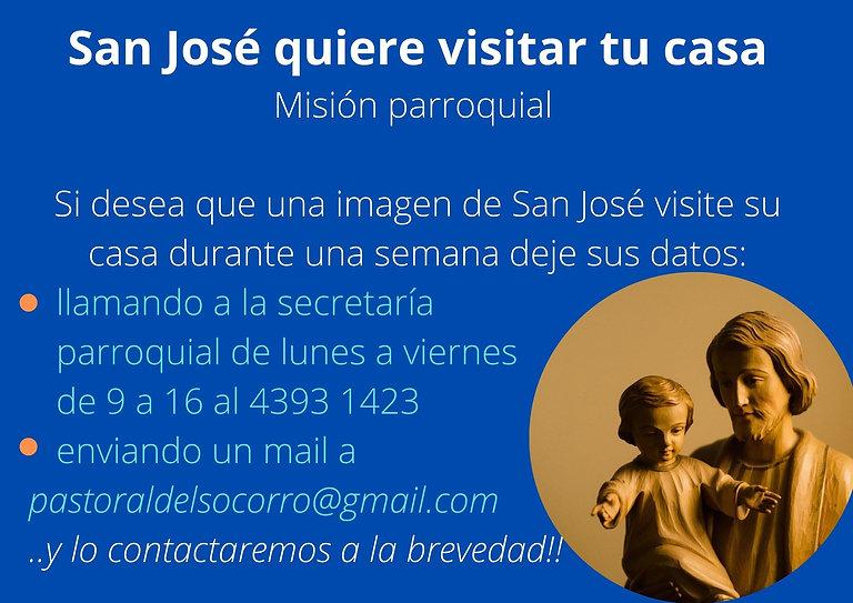 San José quiere visitar tu casa Misión parroquial Si desea que una imagen de San José visi