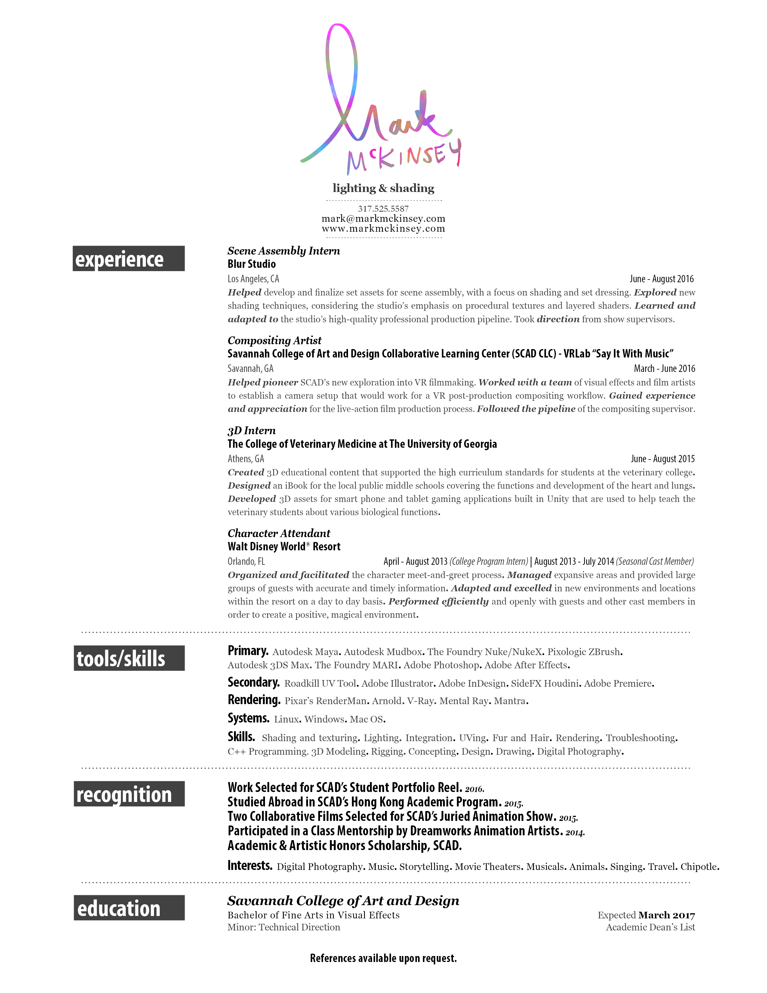 3D Artist cover letter 3 templates looking for work