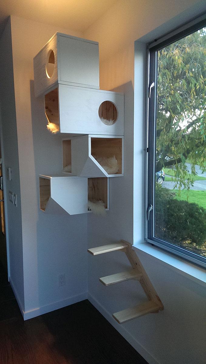 Catissa: дизайнерские деревянные домики для кошек 2013-11-02.