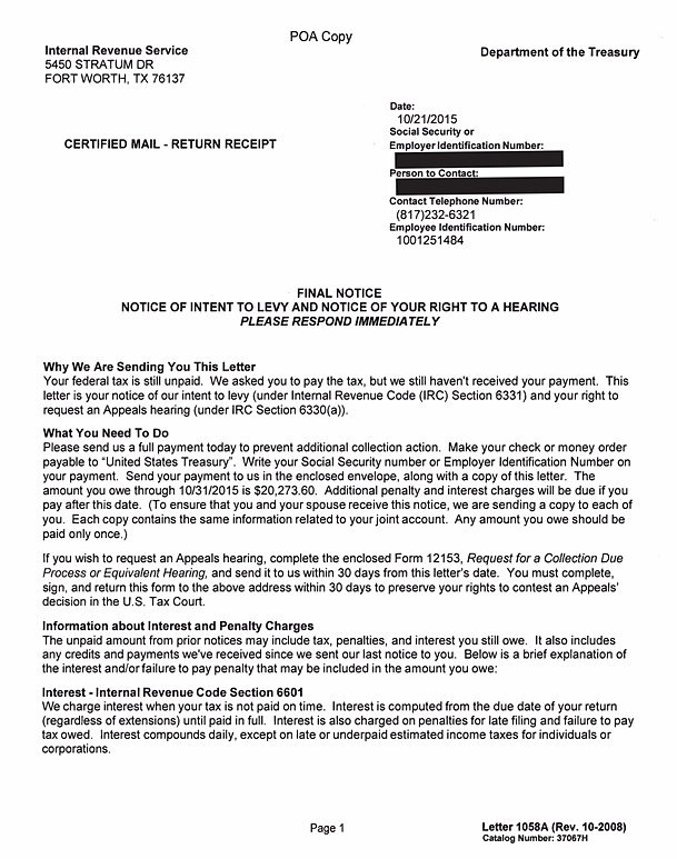 How To Write Letter To Irs About Abatement Choice Image Letter