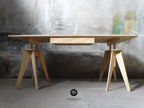 Mader stica carpinter a de autor mes n de trabajo for Mesones de madera