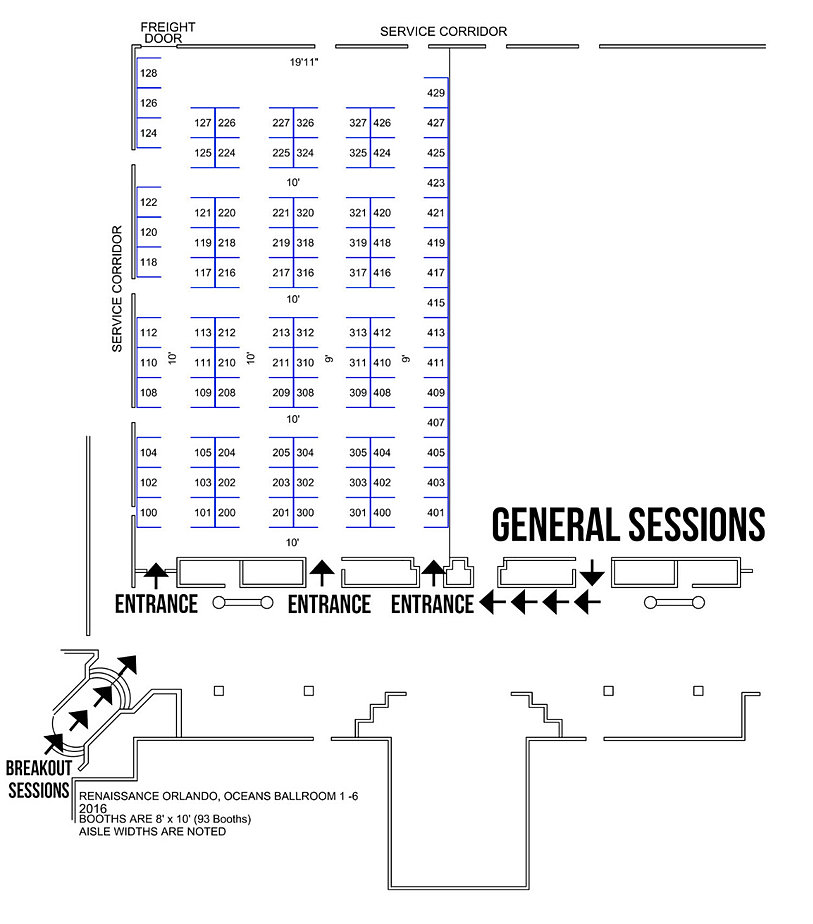 Annualconference trade show map availability for Trade show floor plan