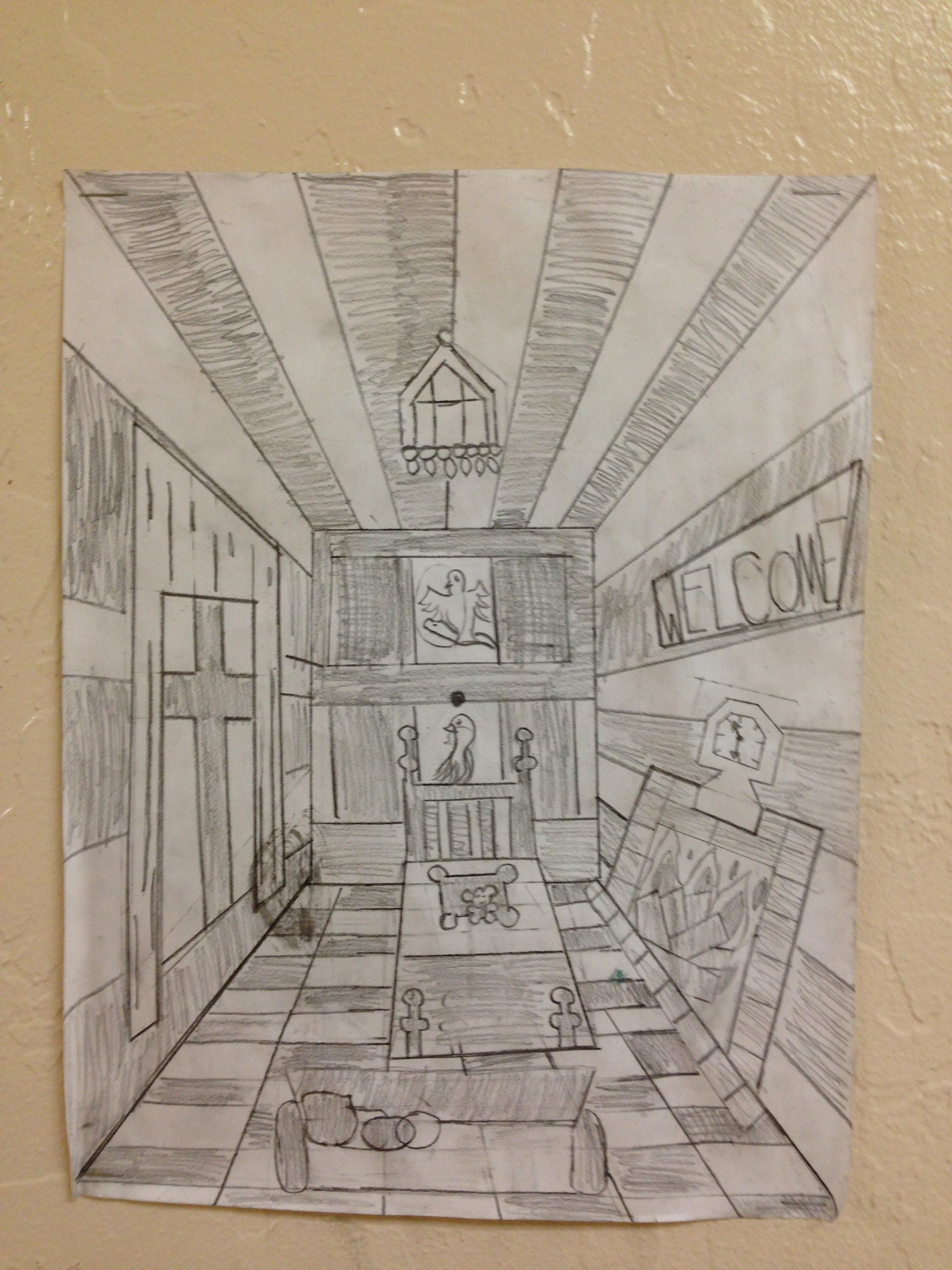 Room In  Point Perspective