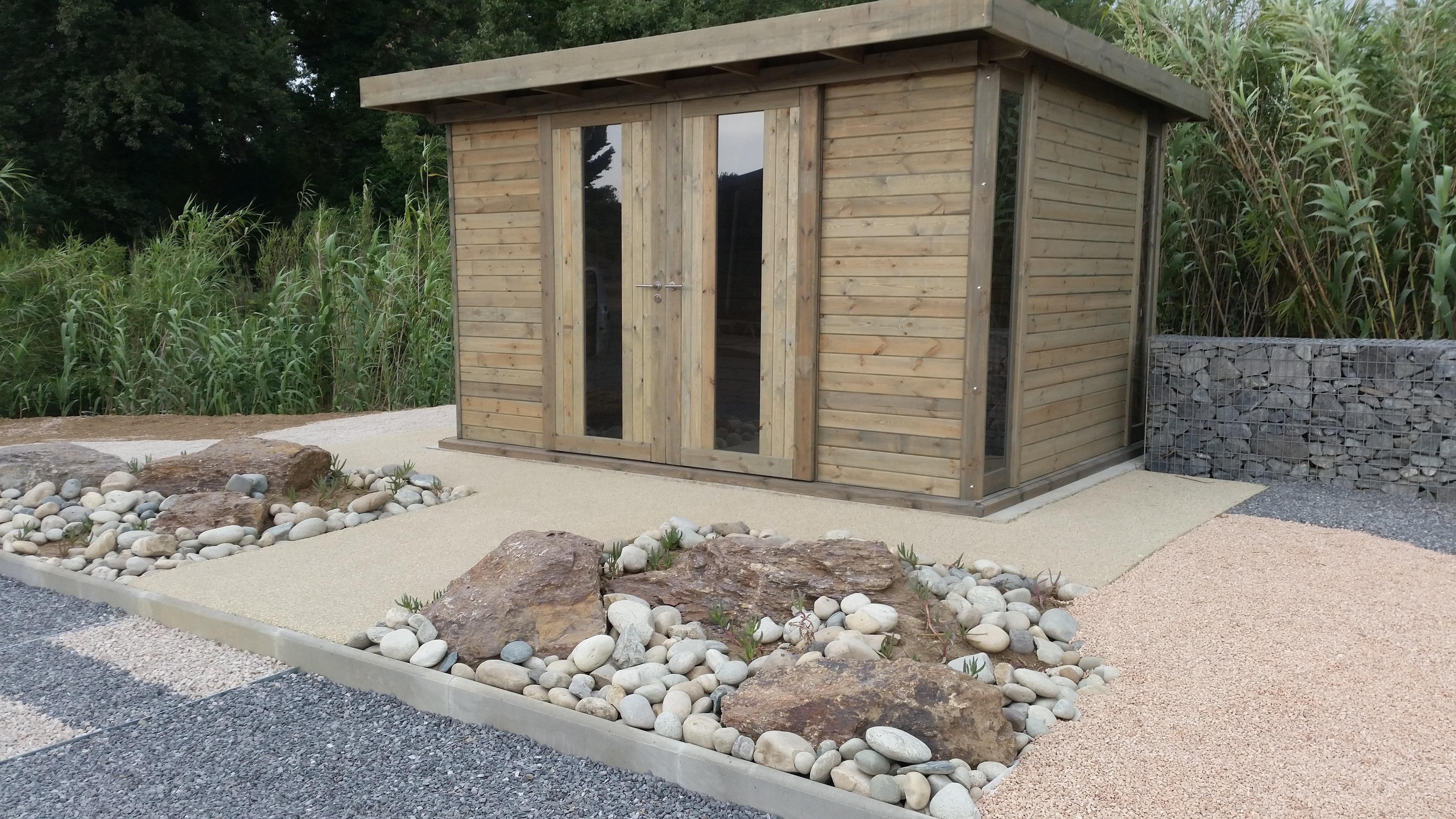 Abri bois toit plat le service pose 13 30 84 83 04 aix en - Abri de jardin flovene aixen provence ...