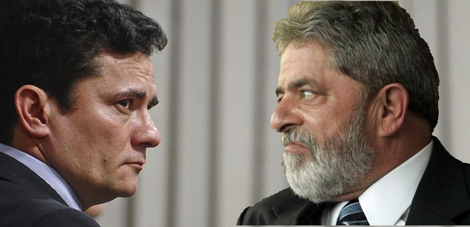 Resultado de imagem para Lula vs sergio moro