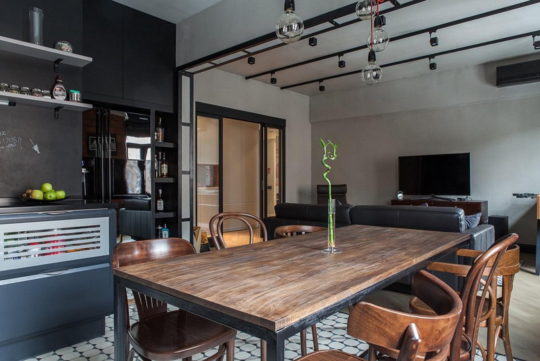 Мужской дизайн квартиры 126