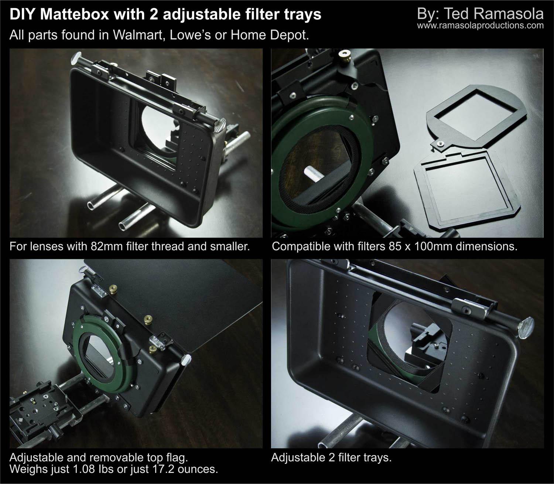 Diy Dslr Camera Rig: DIY Mattebox With Rotating Filter Trays