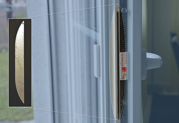 Bohrblocker seitlich eingebaut for Einbruchsichere fenster