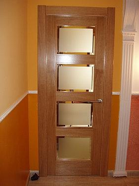 Puertas - Puertas con cristales biselados ...