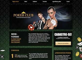 Clube de Poker  Template - Um template sexy e ousado ideal para seu casino ou clube de poker. Ilustrações suaves e um plano de fundo padronizado dão  ao design um toque de estilo enquanto o amplo espaço para texto permite destacar as taxas para adesão, torneios e localização.