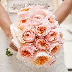 garden roses make an elegant substitution for pricey peonies unlike peonies they are available all year long they have a lovely large bloom that - Blush Garden Rose Bouquet