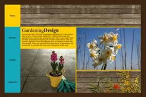 Landscape Designer Template - A Grunge Website with a simple menu, that is easy to customize with your logo, and Perfectly suited for promoting your brand on the web.