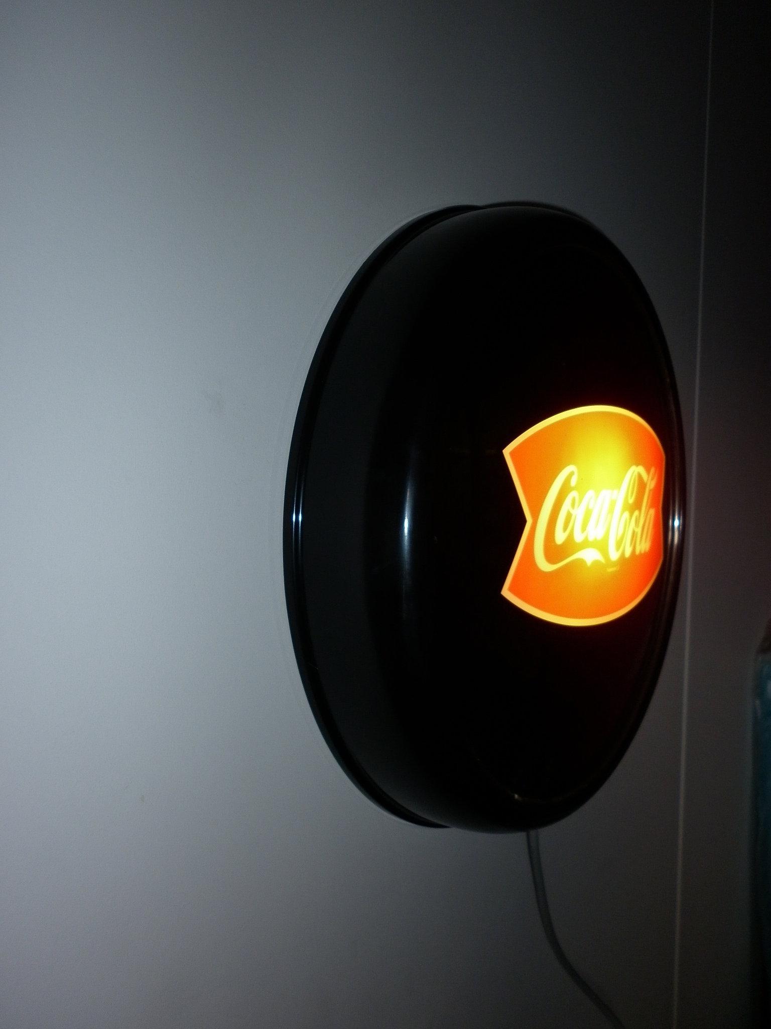 Black Coca Cola Wall Light