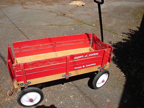Wooden Radio Flyer Wagon - $40.00