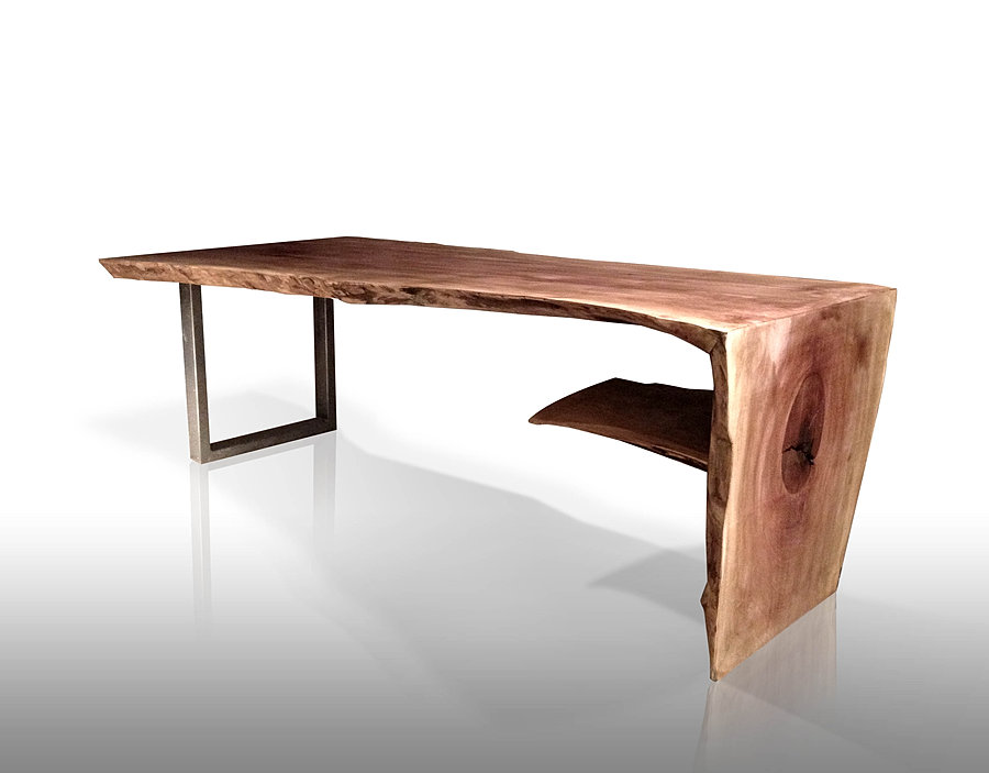 Natural wood slab furniture live edge tables from for Waterfall design coffee table