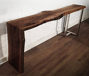 WOODEN WATERFALL CONSOLE