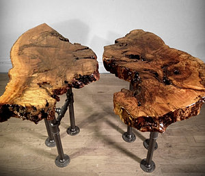 SALVAGED TRUNK END TABLES