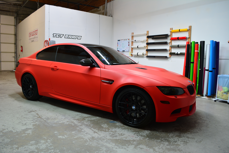Tct Wraps Bmw M3 Matte Red Wrap