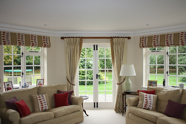 Silk Curtains, Roman Blinds and Cushions, Interior Design, Interior Designer, Leamington, Warwickshire, Midlands, Curtains, Blinds