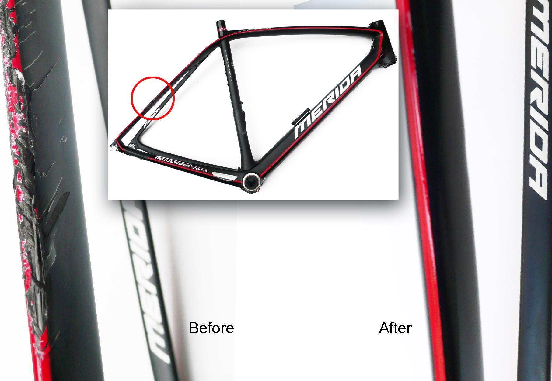 reparacion cuadro de carbono, reparar bicicleta de carbono ...