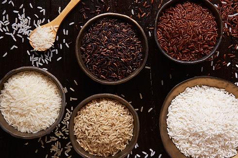 Jasmine rice, Brown rice, Red rice,Black