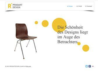 Produktdesign Template - Diese strukturierte Vorlage in klaren Farben eignet sich perfekt, um Ihre Produkte zu vermarkten. Laden Sie Fotos hoch und bearbeiten Sie die Texte. Beginnen Sie jetzt und erstellen Sie eine Website für Ihr Produktdesign-Unternehmen!