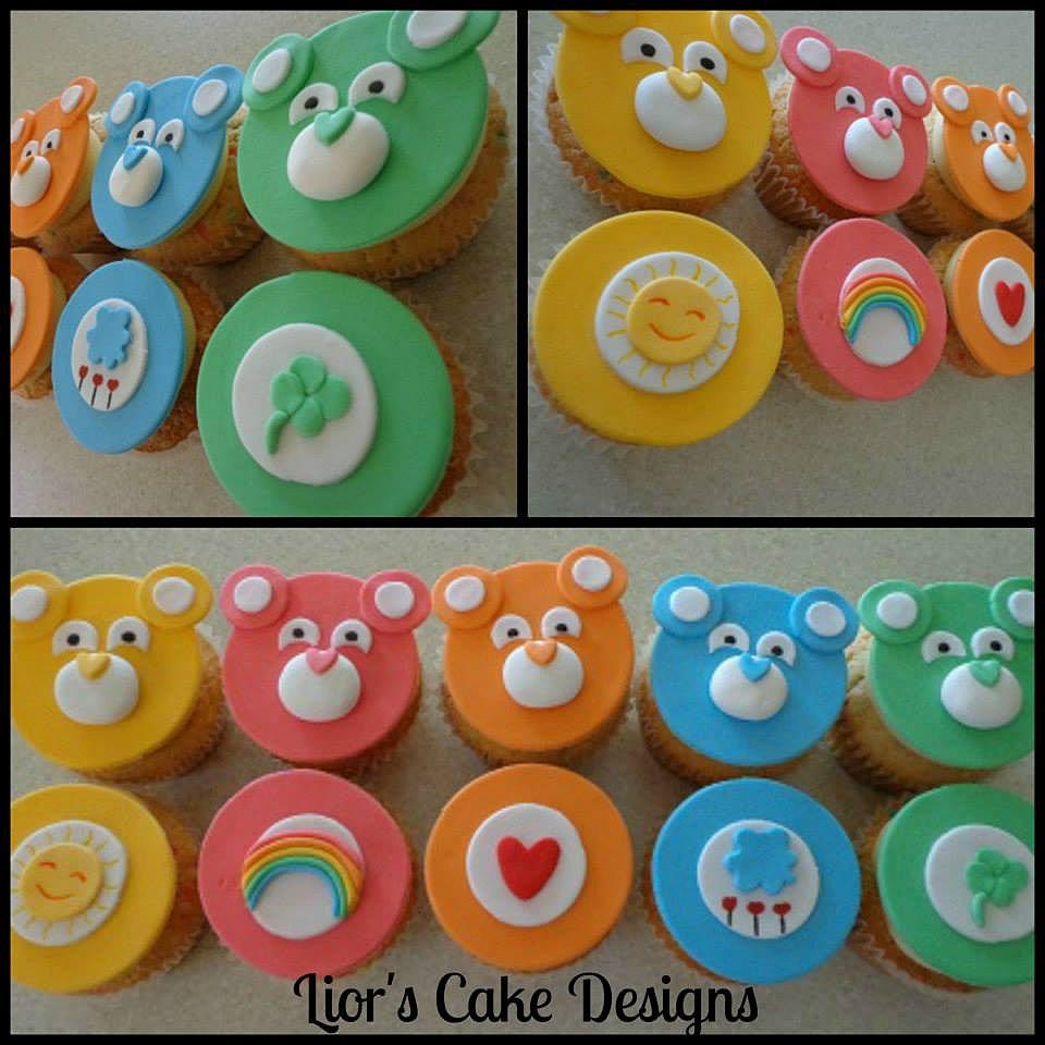Liors Cake Designs : Care Bear Cupcakes