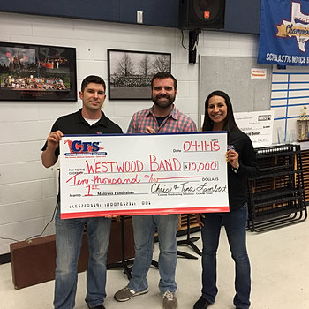 Westwood Band Boosters $10,000