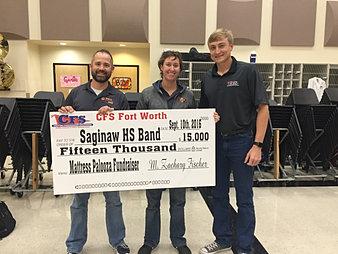 Saginaw HS Band $15,000