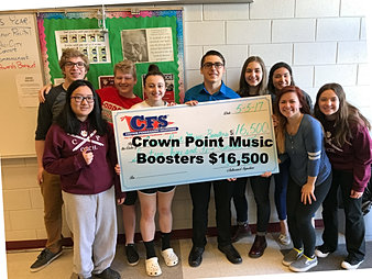 Crown Point Music Boosters $16,500
