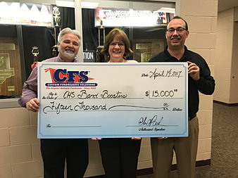 Chesterton HS Band Boosters $15,000