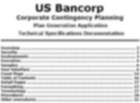 US Bank Contingency Plan