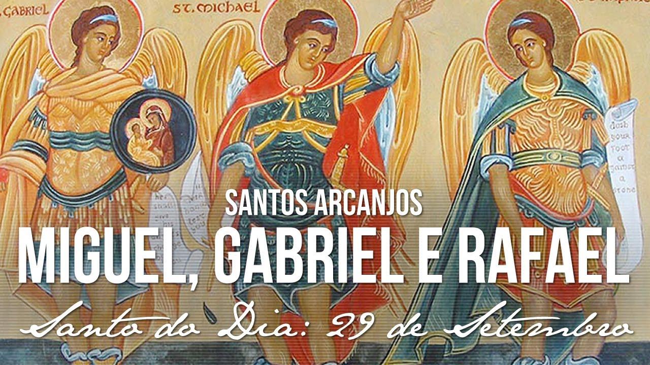 Resultado de imagem para Santos Arcanjos Miguel, Gabriel e Rafael