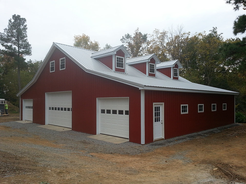 Virginia barn company pole barn builder va for 4 car garage plans with living quarters