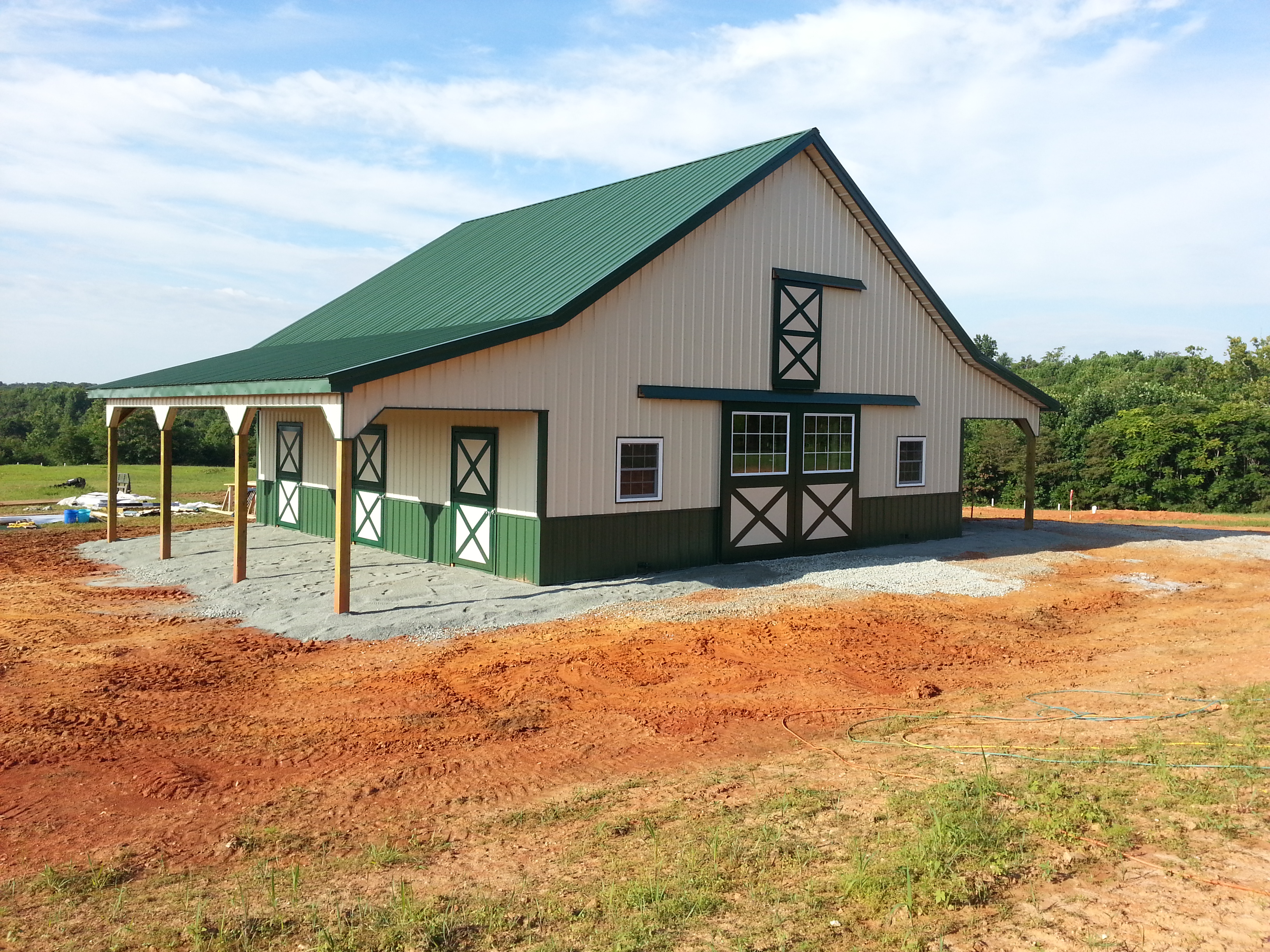 Virginia barn company pole barn builder va horse barn for 36x36 garage