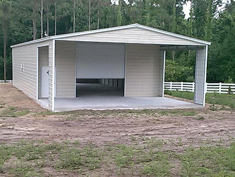 Carports anywhere steel buildings portable buildings for 24x40 garage