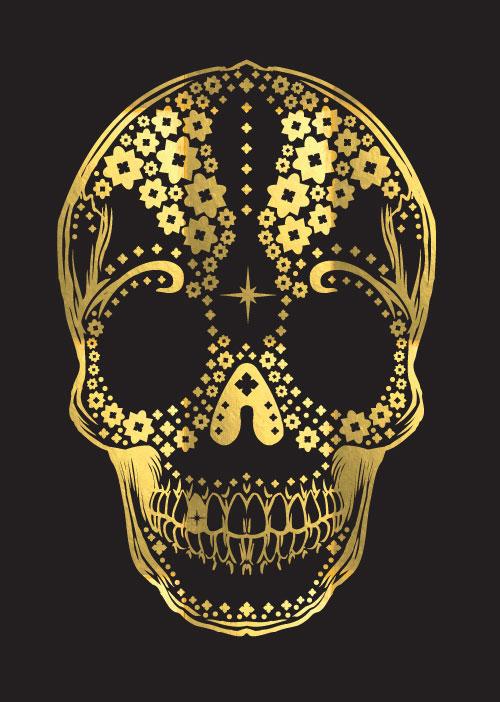 designer and illustrator floral skull. Black Bedroom Furniture Sets. Home Design Ideas