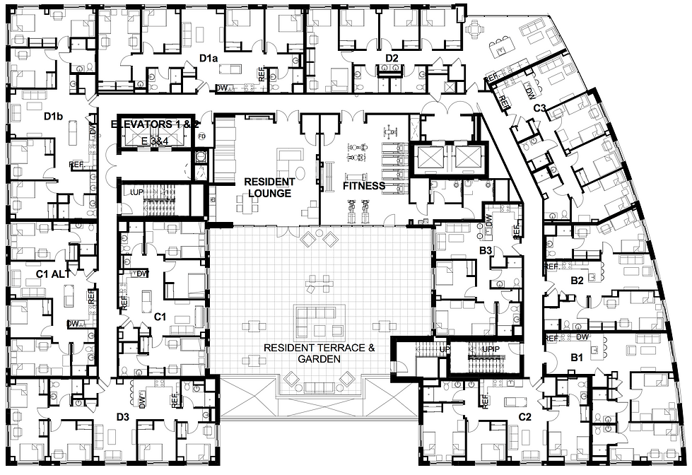 Mixed Use Floor Plans Dsdha S Corner House Boasts