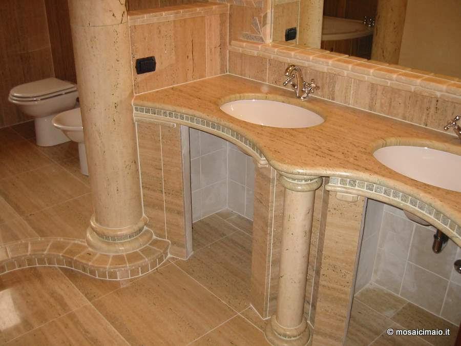 Bagni in muratura mosaico bagno moderno in muratura with - Arredo bagno in muratura ...